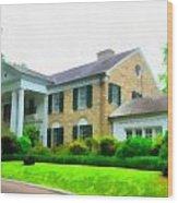 Graceland Mansion Wood Print