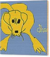 Gracie 1 Wood Print by Anita Dale Livaditis