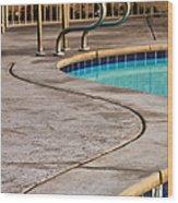 Gracious Curves Palm Springs Wood Print