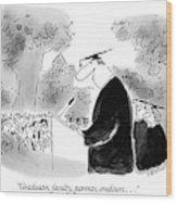 Graduates, Faculty, Parents, Creditors Wood Print