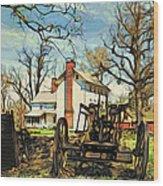 Graeme Park Farmhouse View Wood Print