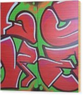 Graff Love Wood Print
