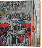 Graffiti 16 Wood Print