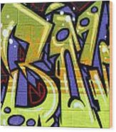 Graffiti 22 Wood Print
