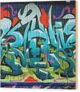 Graffiti 6 Wood Print