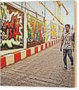 Graffiti Alley  Wood Print