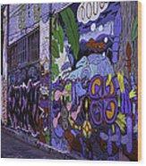 Graffiti Alley San Francisco Wood Print