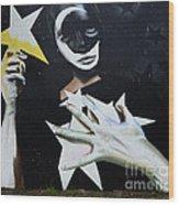 Graffiti Art Curitiba Barazil 13 Wood Print by Bob Christopher