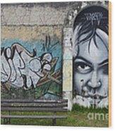 Graffiti Art Curitiba Brazil 1 Wood Print by Bob Christopher