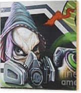 Graffiti Art Curitiba Brazil 18 Wood Print by Bob Christopher