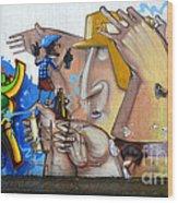 Graffiti Art Curitiba Brazil  19 Wood Print