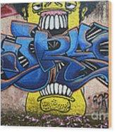 Graffiti Art Curitiba Brazil 7 Wood Print by Bob Christopher