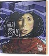 Graffiti Art Rio De Janeiro 3 Wood Print