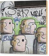 Graffiti Art Rio De Janeiro 5 Wood Print