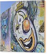 Graffiti Art Santa Catarina Island Brazil 1 Wood Print by Bob Christopher
