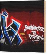 Graffiti - Box Car Art  7097-008 Wood Print