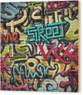Graffiti Grunge Texture. Eps 10 Wood Print