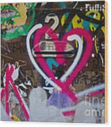Graffiti Heart Wood Print