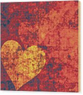 Graffiti Hearts Wood Print