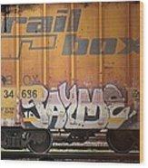Graffiti - Jayme Doll Wood Print