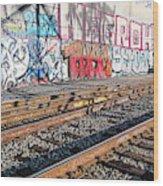 Graffiti On The Wall, Tenth Street Wood Print