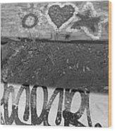 Graffiti Table 2 Wood Print