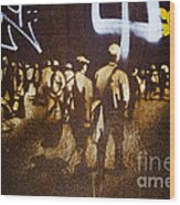 Graffiti Walk Together Wood Print by Victoria Herrera