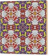 Graffito Kaleidoscope 40 Wood Print