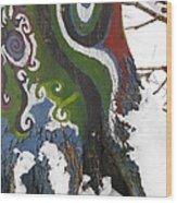 Graffitree 3 Wood Print