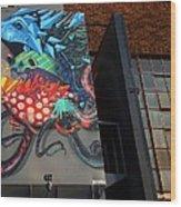 Grafitti And The Panes Wood Print