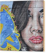 Grafitti Art Calama Chile Wood Print