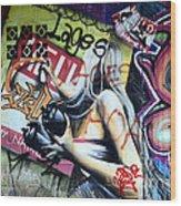 Grafitti Art Florianopolis Brazil 1 Wood Print