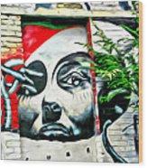 Grafitti Three Lady Wood Print