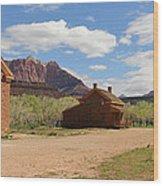 Grafton Utah Butch Cassidy Movie Set Panorama Wood Print