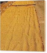 Grain Drying Wood Print