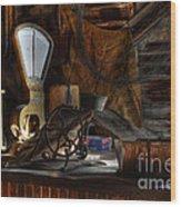 Grain Elevator Wood Print by Bob Christopher