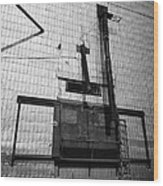 grain elevator doors and filling pipe leader Saskatchewan Canada Wood Print