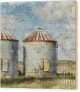 Grain Silos - Digital Paint Wood Print