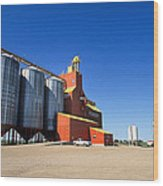 Grain Silos Saskatchewan Wood Print