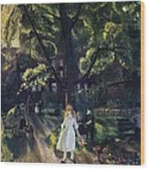 Gramercy Park Wood Print by George Wesley Bellows