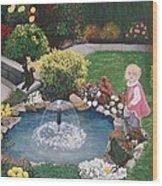Gramma Nanna S Pond Wood Print
