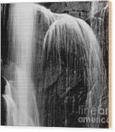 Grampians Waterfall Bw Wood Print