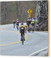 Gran Fondo Bike Ride Wood Print by Susan Leggett