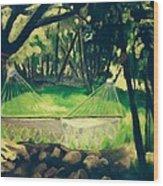 Granbury Hammock Wood Print