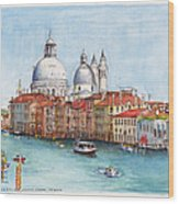Grand Canal And Santa Maria Della Salute Venice Wood Print