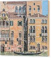 Grand Canal Gondola Wood Print