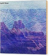 Grand Canyon As A Painting 2 Wood Print