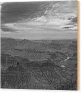 Grand Canyon Black And White Wood Print