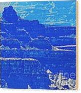 Grand Canyon Blues Wood Print
