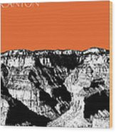 Grand Canyon - Coral Wood Print
